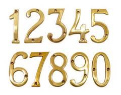 ゴールデンナンバー インテリア雑貨 真鍮製 数字 表札 デコ