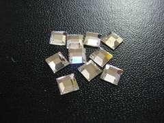 スワロフスキー #2400 4mm クリスタル 10個 スクエア 3086