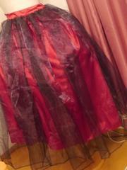 試着のみ大きいサイズ4L〜5L ゴシックロングスカート赤黒