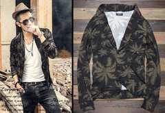 ◆薄手ニット ジャケット型カーディガン◆3sizeから選択