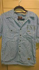 美品 古着 トイズマッコイ 半袖 シャンブレーシャツ 16