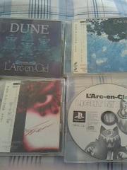 ラルク★CD3枚とプレステ用ディスク