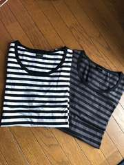 ボーダーTシャツ2着  Lサイズ