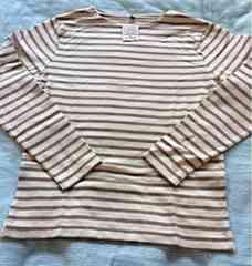 無印商品  メンズボーダーTシャツ(長袖)M