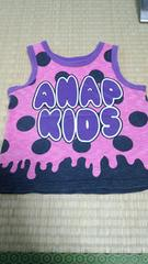 アナップキッズ100�pタンクトップ紫色ANAP