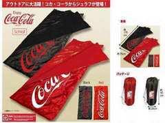 コカコーラの寝袋  キャンプ   アウトドア