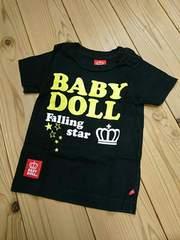 BABY DOLL*ベビードール☆王冠&ロゴプリント半袖Tシャツ80☆新品同様