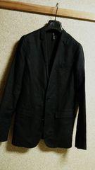 正規美 Dior Hommeディオールオム ナローラペルカジュアルジャケット黒 38 スーツ 薄手