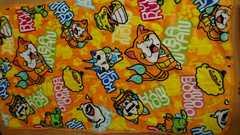 即決☆70×120�a妖怪ウォッチ黄色のフカフカお昼寝布団敷マット