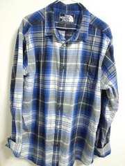 ノースフェイス 薄手チェックシャツ XL