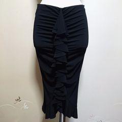 シトラスノーツライン美はお墨付きサラテロ上質エレガントセクシースカート黒36