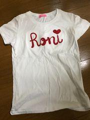 RONI・デカロゴ半袖Tシャツ・白L