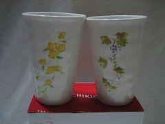 季節の花 ペア陶コップ 湯呑 2種セット×3個(計6個) たち吉