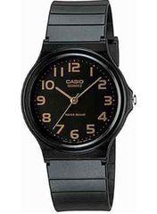 カシオ腕時計 スタンダードアナログウォッチ ブラック×ゴールド