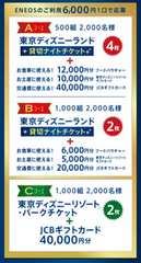 東京ディズニー貸切ナイトチケット&豪華ギフト券セット当たる高額レシート2口