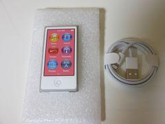 iPod nano 第7世代(16GB)A1446 シルバー 未使用品 純正ケーブル付属