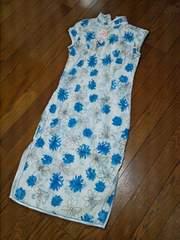 ■未使用品 チャイナドレス ブルー Mサイズ■