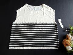 新品 Lil nina 黒 ボーダー Tシャツ カットソー