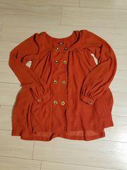 SLY☆シフォンシャツ、オレンジ