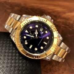 最安値!ロレックス・ヨットマスタータイプ◇クォーツ メタル腕時計・ネイビー×コンビ
