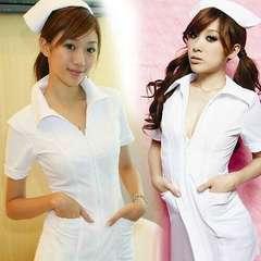 コスプレ 看護婦 ナース 衣装セット 白 1/BBU