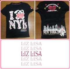 渋谷109リズリサ黒半袖Tシャツウサギプリントが可愛いMサイズ