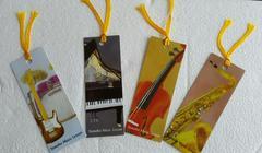ブックマーク、楽器のイラスト、4枚