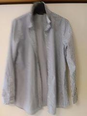リラローブ 紺&白長袖シャツ 綿100 定形外250