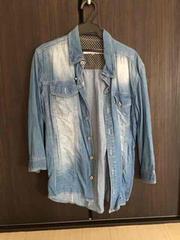 メンズ デニム M 7部 シャツ 夏物セール