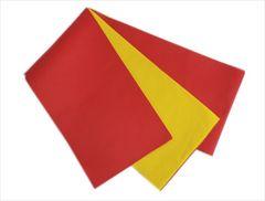 浴衣ゆかた&卒業式袴に 長尺ロング無地リバーシブル半巾帯半幅帯赤黄色