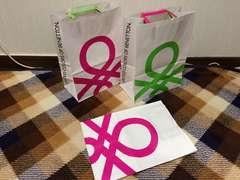 ベネトン紙袋ショップ袋ショッパー3枚まとめセットBENETTON