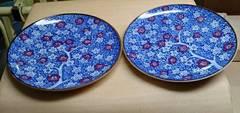 昭和レトロ♪新品梅柄平皿2枚セット♪おもてなし和食器大皿