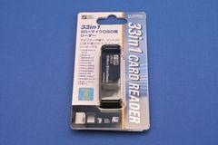 新品★OHM PC-SCRW3-K 33in1 マイクロSD+SD用 カードリーダー