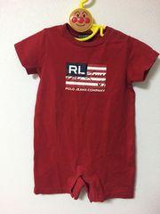 ラルフローレン 赤ロンパース size90