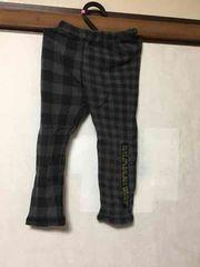 子供服/チェック柄/パンツ/ブラック×チャコールグレー/95cm