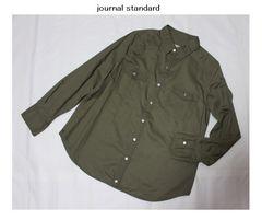 ジャーナルスタンダード*journal standardタイプライター2wayシャツ新品カーキ