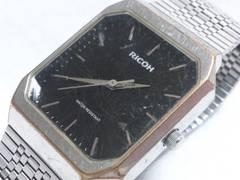 7706/RICOHリコー★スクエアケース型のヴィンテージタイプ/メンズ腕時計格安出品!
