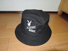 新品SCHOTT×PLAYBOYハットL黒ショットプレイボーイ帽子