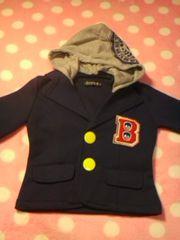 ●超オシャレなフード付柔らかジャケット● 90美品