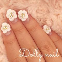 みぢょ!チビ爪ベリショ3Dフラワーお花フレンチ華やか花冠風ブライダル/スワロジェル