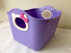 新品*キティやわらかミニバケツ*収納BOX*小物入れパステル紫