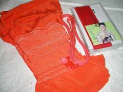 中抜き絞りの帯揚げ・帯締め・重衿のセット