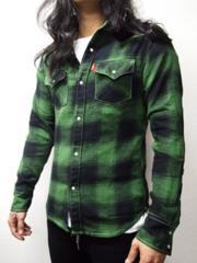 ブリューテンブラット ブロックシャツ 緑 M
