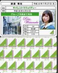渡邉理佐 サイレントマジョリティー 免許証カード 欅坂46