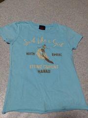 美品♪ロコTシャツ(水色)120〜125�p