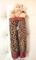 新品ヒョウ柄くま付きブーツキーパークマ豹柄ギャル