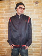 【ジョーダンブランド】NIKEジャージジャケット黒×赤XL♪大きいサイズ1234567
