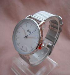 メッシュメタルベルトカジュアルウォッチSV-腕時計