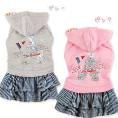 ◆新品◆パーカーワンピース★グレー★M★5,980円
