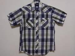 即決USA古着●ラングラーチェックデザインウエスタン半袖シャツ!ヴィンテージ・アメカジ